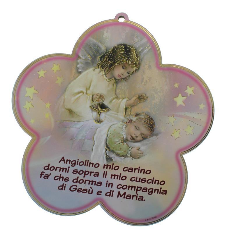 Favoloso QUADRETTO ANGELO CUSTODE 16X16 1 Quadretti Semprini Arredi Sacri  OD56