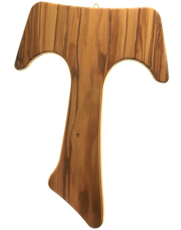 tau in ulivo da appendere a parete cm 26 tau in legno di ulivo tipo ...