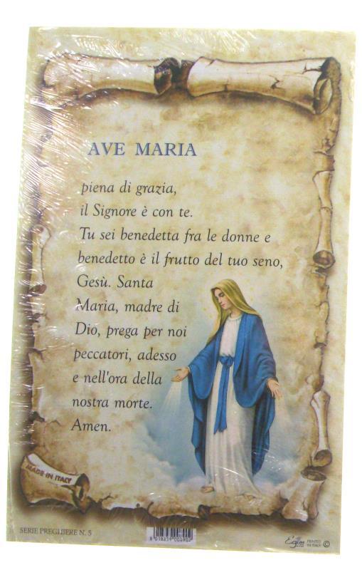Conosciuto CARTONCINO SERIE PREGHIERA FORMATO 10X15 - AVE MARIA maria Santini  XL11