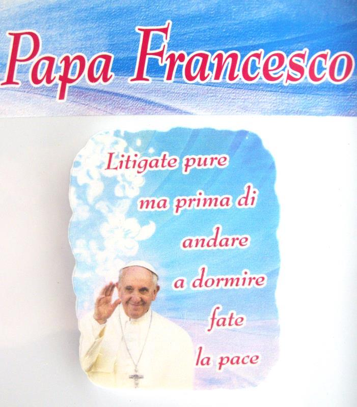 Popolare MAGNETE CON FRASI PAPA FRANCESCO calamite Semprini Arredi Sacri  RI54