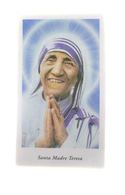Santini Con Preghiera Confezione 100 Pz Madre Teresa Di Calcutta