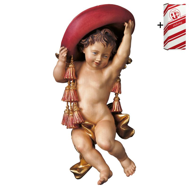 putto del cardinale + box regalo. 15 cm.scolpito i