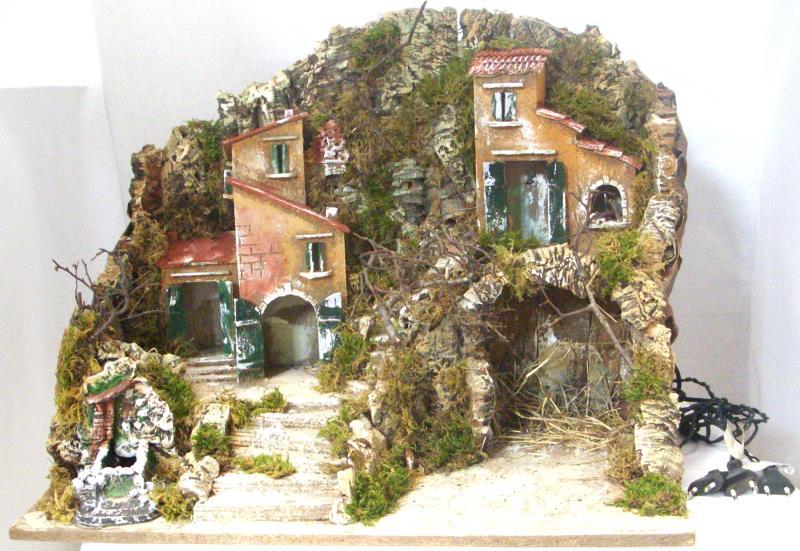 Capanna grotta gruppo case altezza cm 48 capanne per for Fontana fai da te