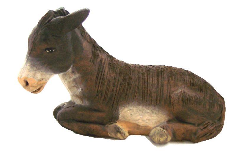 Asino cm 12 terracotta Presepe | vendita online Semprini Arredi Sacri