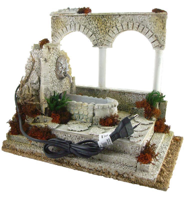 Fontana Per Il Presepe.Fontana Con Archi Per Presepe Cm 10 Accessori Presepe Semprini Arredi Sacri