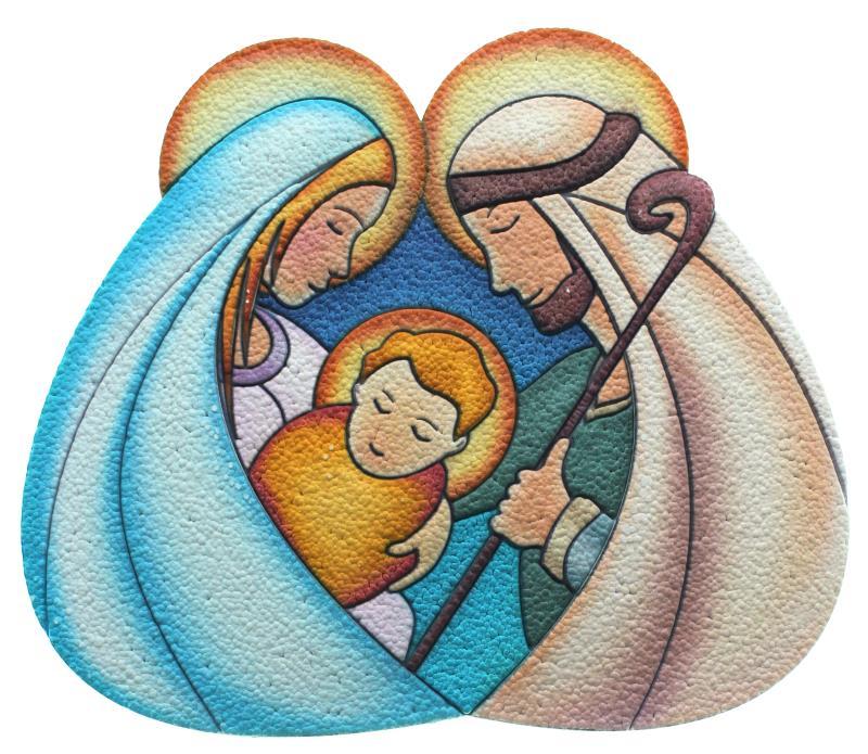 Immagini Sacre Natale.Sacra Famiglia Cm 11x10 Articoli Regalo Per Natale Semprini Arredi Sacri