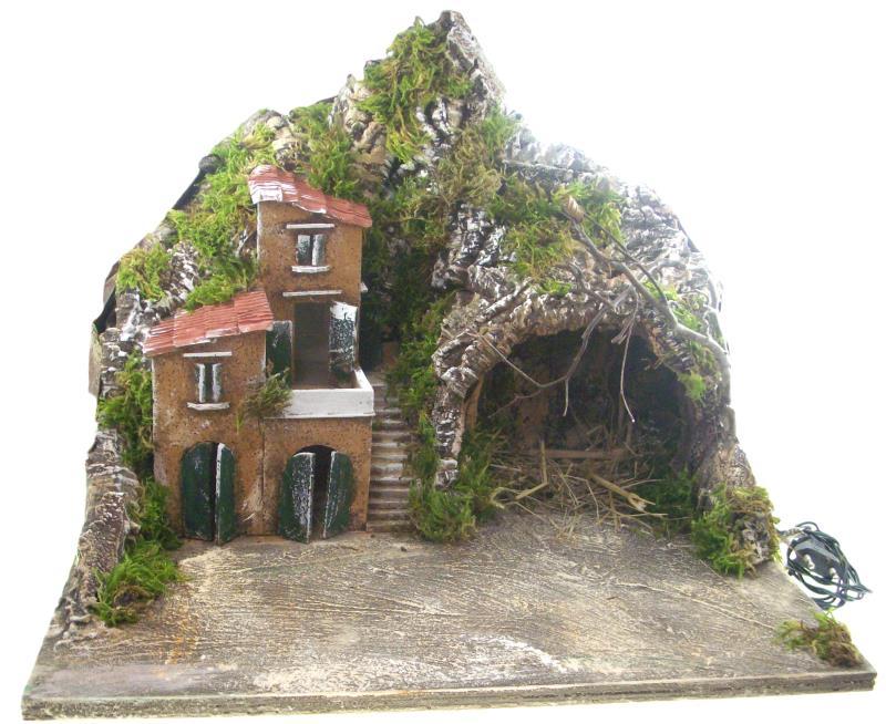 Presepe con grotta e casolare cm vendita online semprini