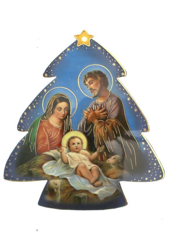 Immagini Religiose Di Natale.Albero Di Natale Su Pvc 12x11 Cm Articoli Regalo Per Natale Semprini Arredi Sacri