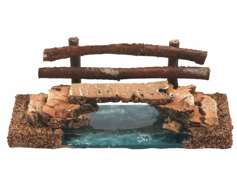 Ponte sul fiume per presepe cm 18x9x7 Accessori Presepe | Semprini