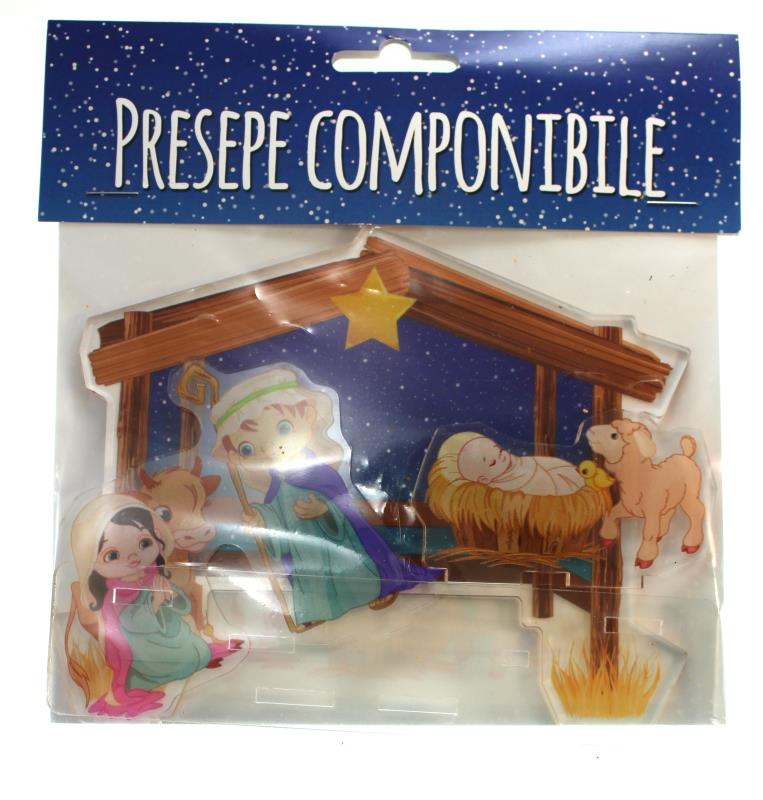 presepe componibile in pexiglass cm 12x15