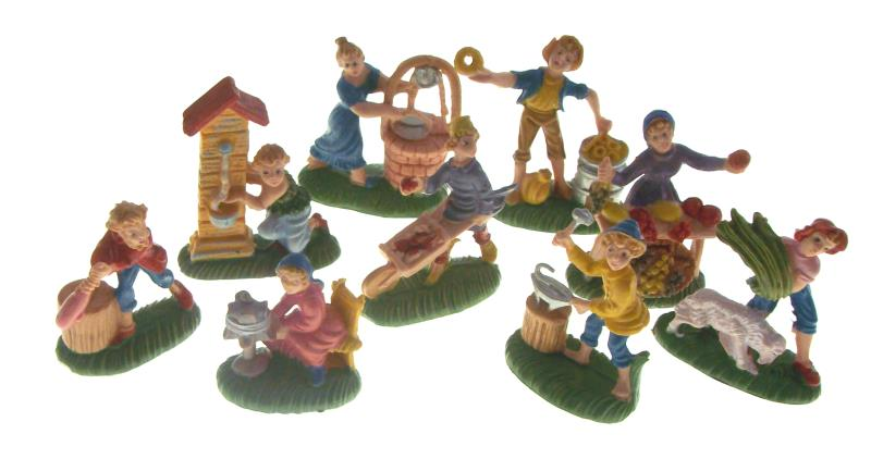 Personaggi mestieri per presepe cm 4 col Presepe tipo legno 3 5