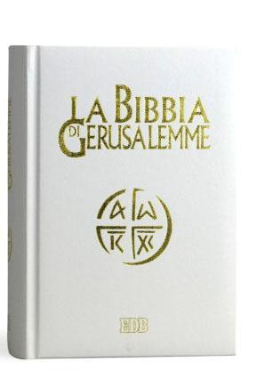 Anniversario Matrimonio Bibbia.Bibbia Di Gerusalemme Copertina Bianca E Oro Matrimonio Semprini