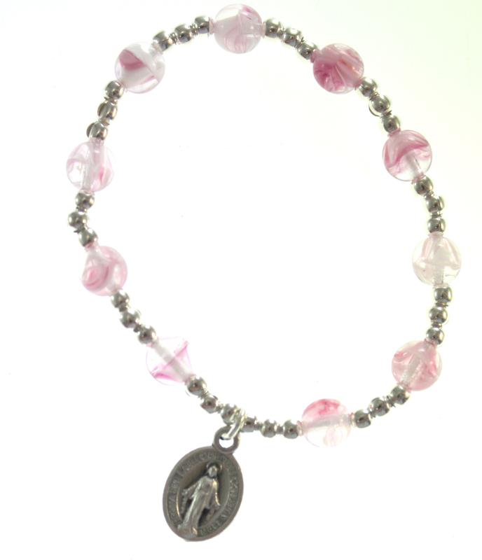 size 40 ffd39 5facf Braccialetto rosario per bimbi rosa Braccialetti | vendita online Semprini  Arredi Sacri
