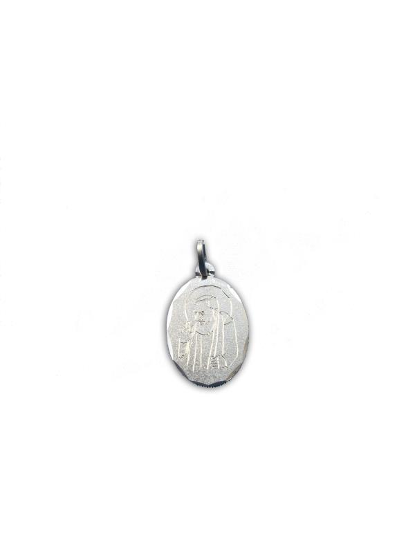 Ciondolo in ORO Giallo 18 kt 750 con PADRE PIO Sacro Religioso Medaglietta Santo