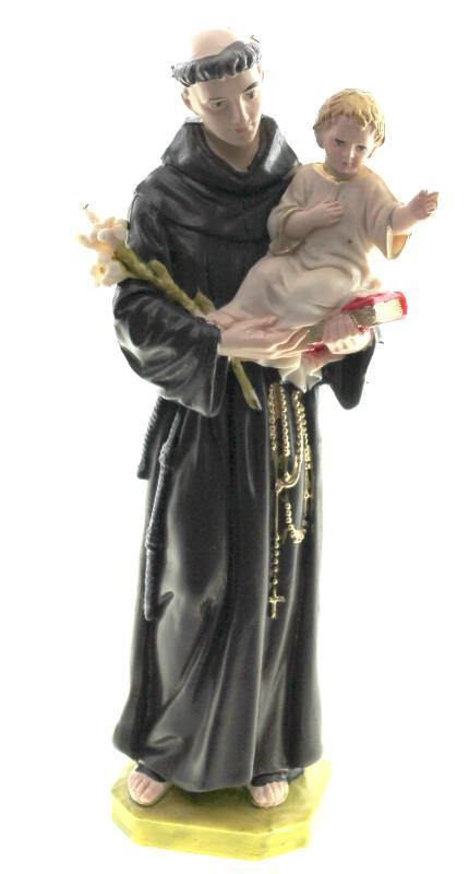 Statua s antonio da padova altezza 15 cm 15 cm for Arredi religiosi