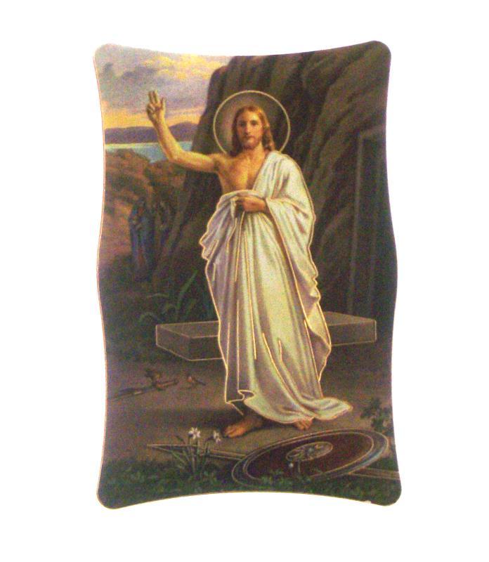 Quadretto immagini religiose cm 10x6 5 gesu risorto for Arredi religiosi