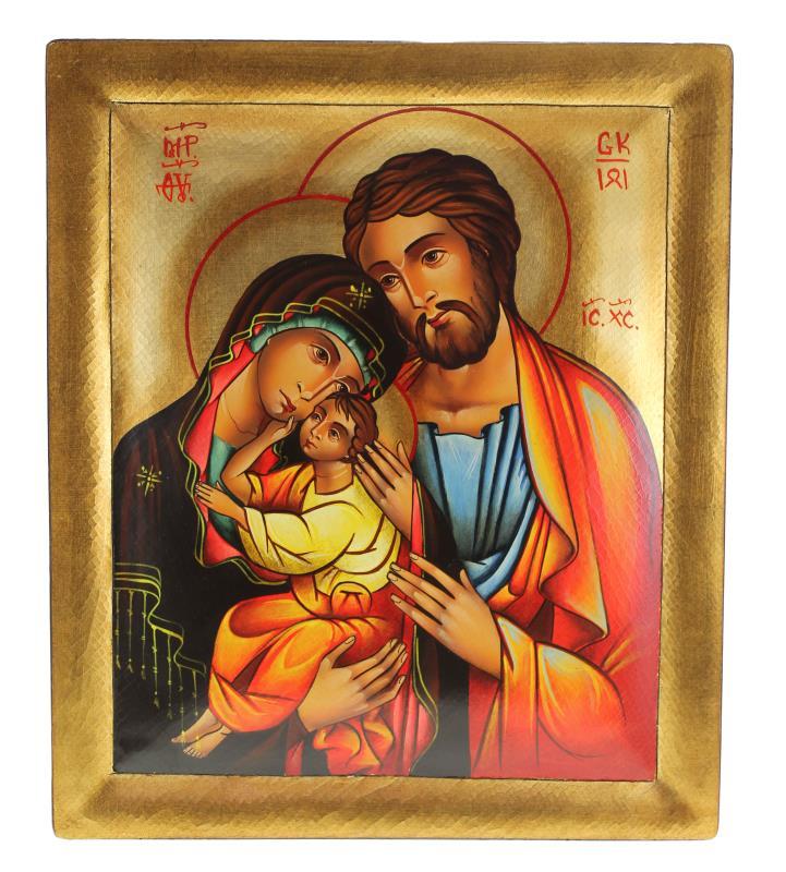 Icona Dipinta A Mano Icona Sacra Famiglia Icone Vendita Online Semprini Arredi Sacri