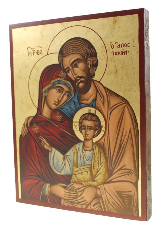 Icona Su Tavola In Serigrafia Icona Sacra Famiglia Icone Semprini Arredi Sacri
