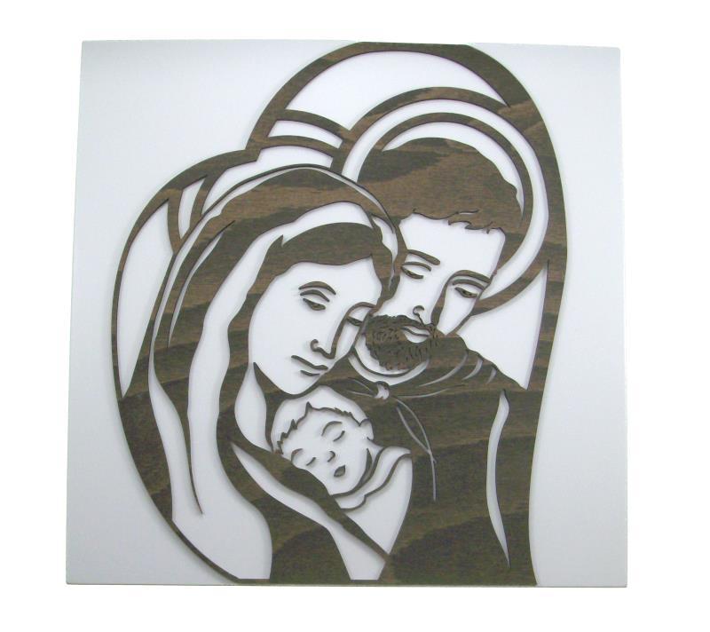 Quadro laccato bianco figura intaglio quadro for Quadri immagini sacre moderni