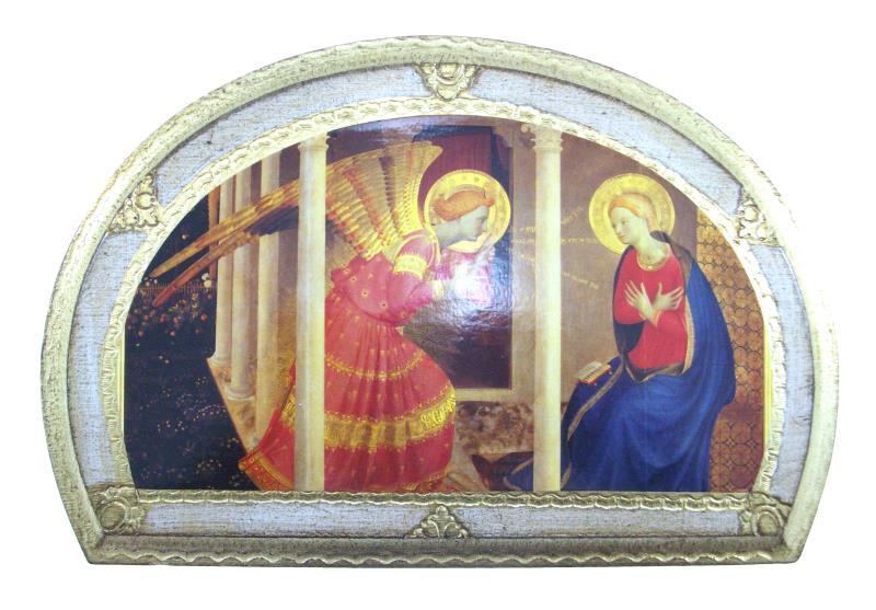 Quadro cm foglia oro annunciazione semprini arredi sacri