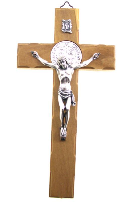 Crocifisso di San Benedetto da 23 cm da appendere alla parete.