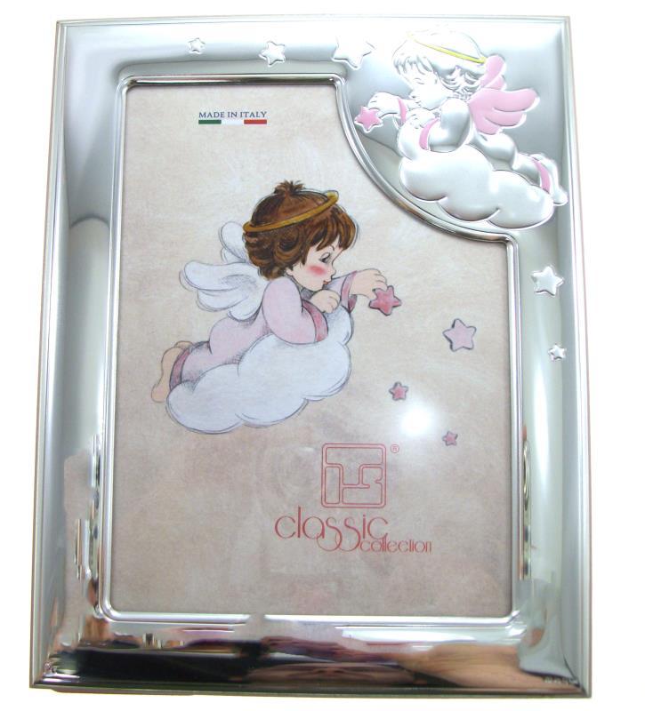 Cornice portafoto per battesimo 13x18 cm - rosa Cornici per ...