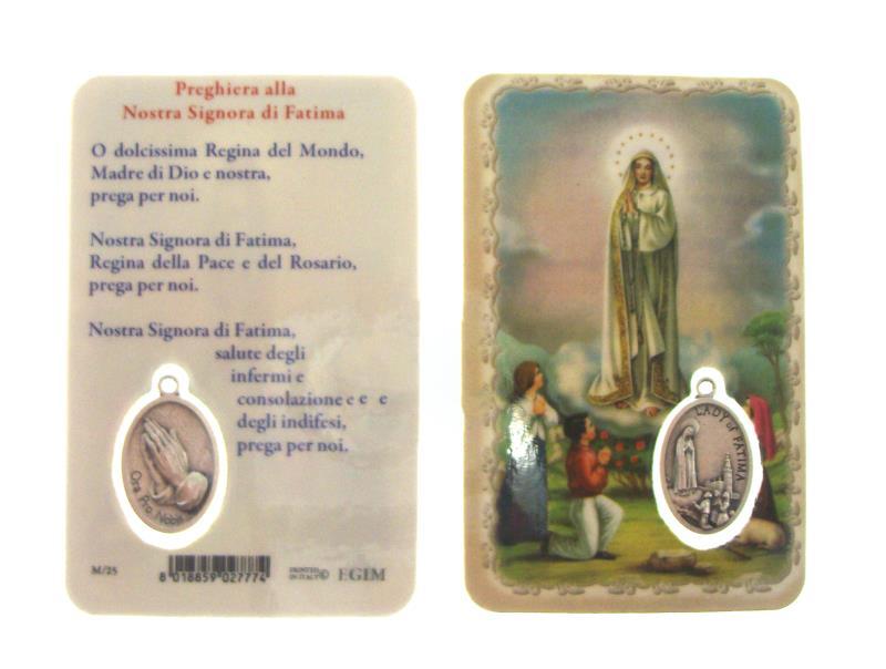 Santino fatima con medaglia vendita online semprini