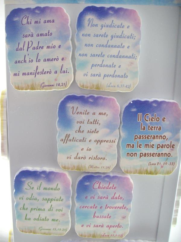 Magnete Con Frase Di Gesu Calamite Vendita Online Semprini