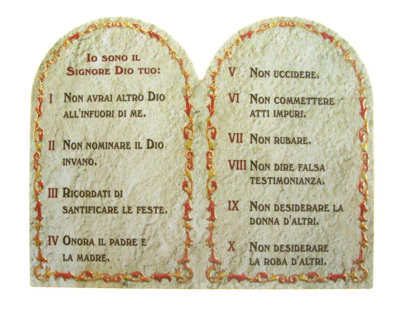 Dittico tavola 10 comandamenti bomboniere arte sacra e - Tavole dei dieci comandamenti ...