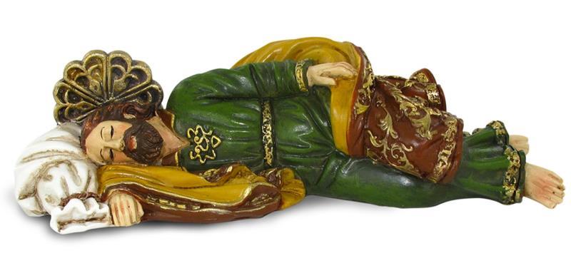 Statua san giuseppe dormiente cm 20 2 statue arte sacra for Arredi interni san giuseppe vesuviano