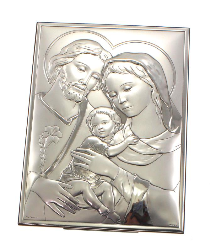Quadro sacra famiglia argento 19x26 cm ag vendita online for Arredi religiosi