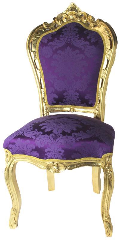Sedia barocca oro cm 110 vendita online su semprini for Vendita sedie online