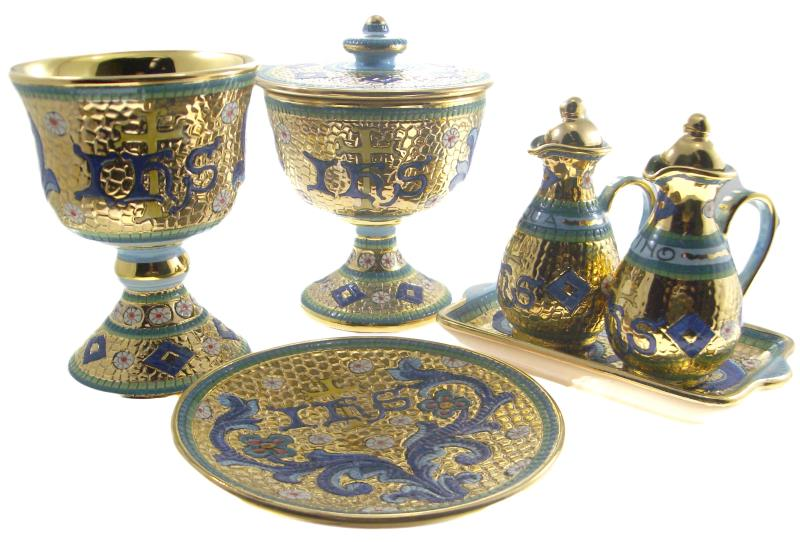 Set completo vasi sacri in ceramica calici vendita online semprini