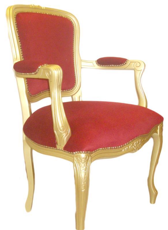 Poltrona barocca in legno e oro | vendita online Semprini Arredi Sacri
