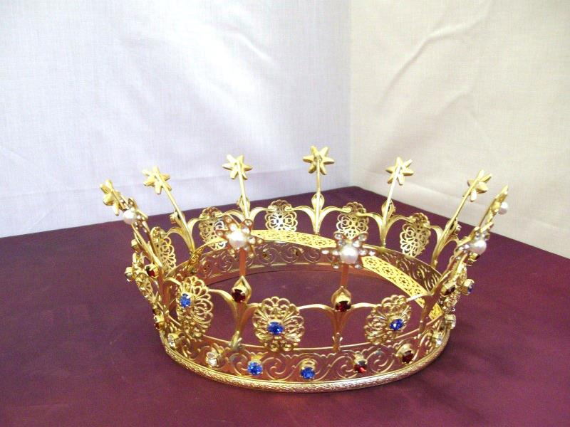 Corona dorata reale con pietre Ø semprini arredi sacri