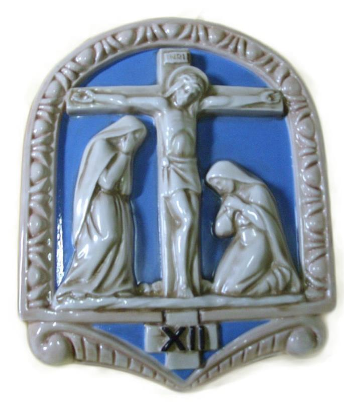 via crucis in ceramica cm 20x26