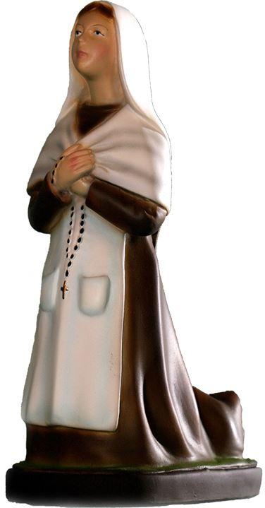 Statua da esterno Padre Pio in materiale infrangibile dipinta a mano cm 16