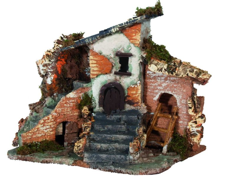 Borgo rustico case presepe vendita online semprini arredi sacri