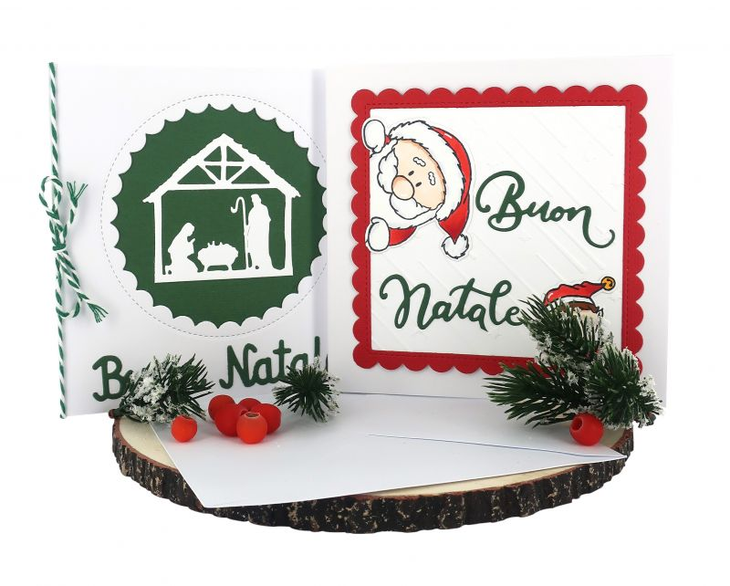 Auguri Per Natale.Biglietti Di Auguri Per Natale Fatti A Mano In Cartoncino Con Busta Scritta Buon Natale Confezione 2 Biglietti Libri La Liturgia