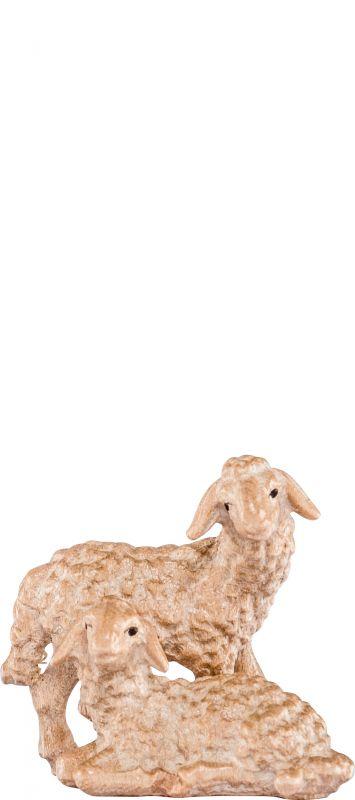 Gruppo agnelli h k - demetz deur statua in legno dipinta a mano altezza  pari 15 cm Presepe scolpito Val Gardena