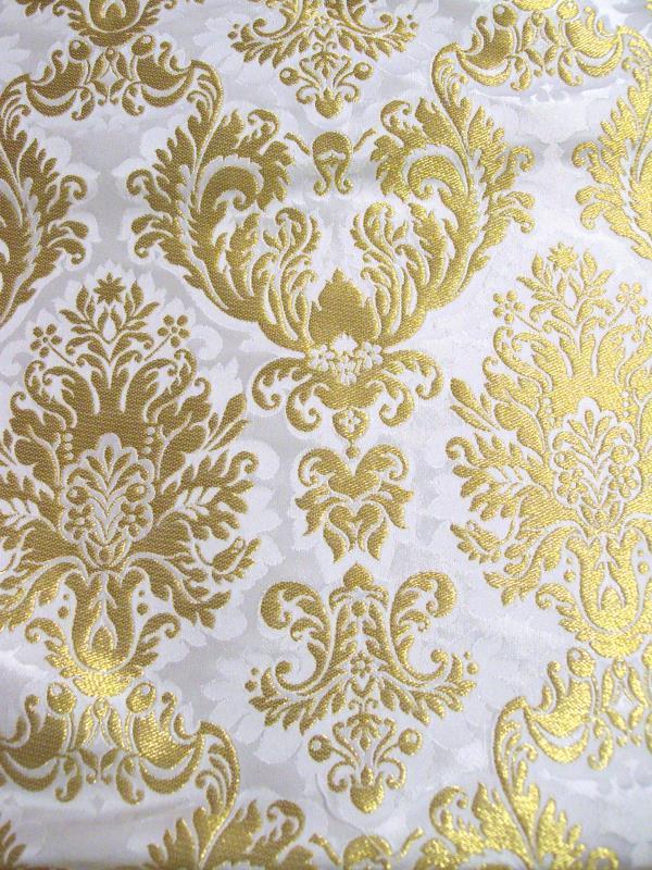 Tessuto broccato bianco b vendita online su semprini for Tessuti per arredamento vendita on line