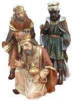 RE MAGI IN RESINA PER PRESEPE CM 50 3PZ